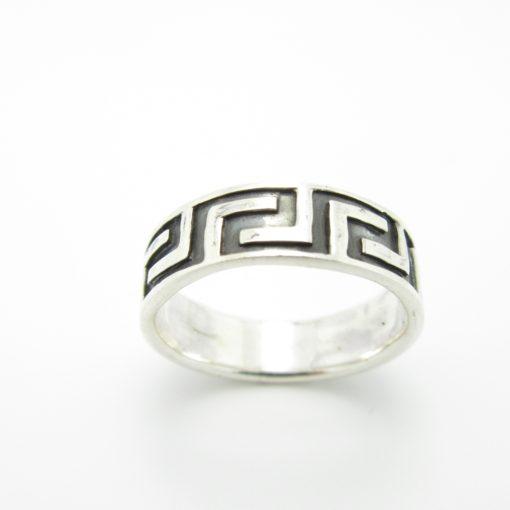 Bague argent anneau grec BA1-0120