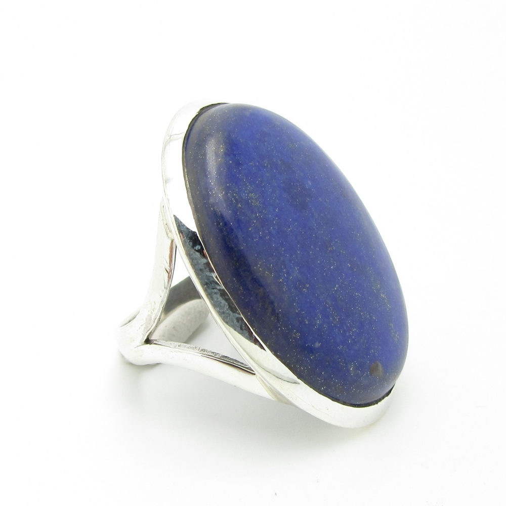 bague argent cabochon lapis lazuli. Black Bedroom Furniture Sets. Home Design Ideas