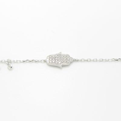 Bracelet argent main de fatima zirconium