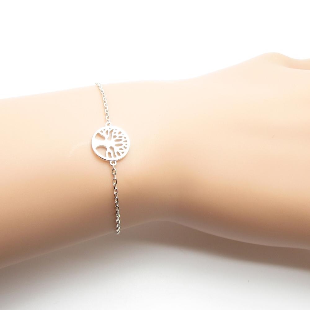 bracelet femme arbre de vie argent