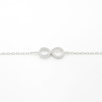 Bracelet argent infini zirconium