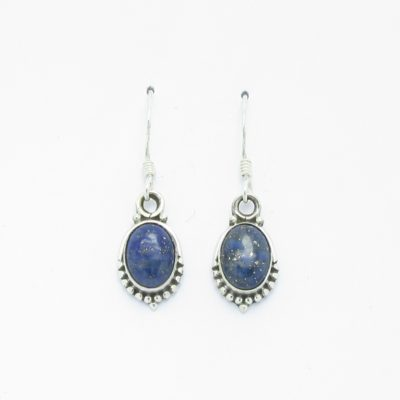 Boucles d'oreilles argent lapis lazuli