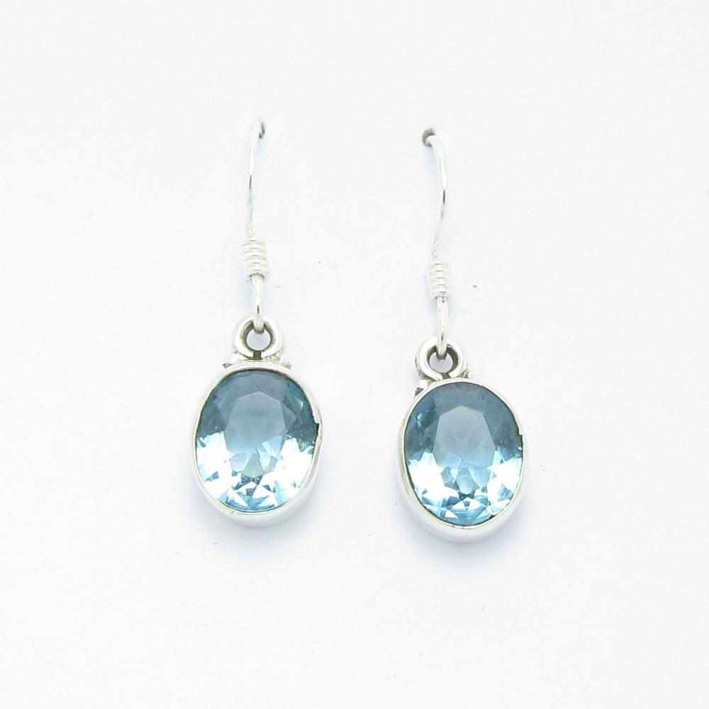 Boucles d oreilles argent topaze bijoux la mode - Fermoir boucle d oreille argent ...