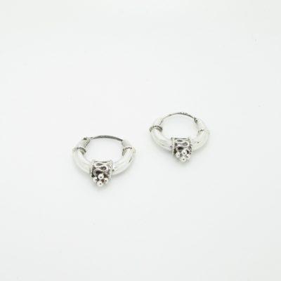 Boucles d'oreilles argent créoles