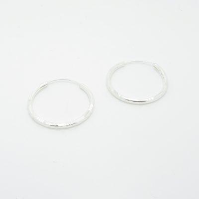 Boucles d'oreilles argent créoles ciselé