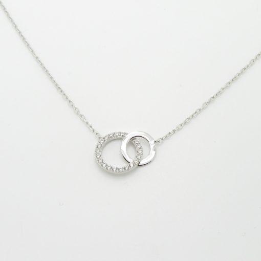 Collier argent infini zirconium