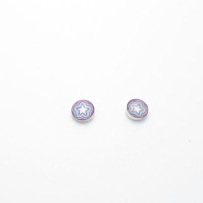 Boucles d'oreille argent puce clou fantaisie BO1-0179