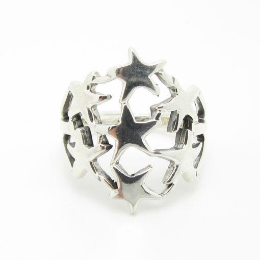 Bague argent étoile BA1-0069