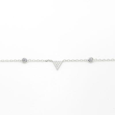 Bracelet argent triangle zirconium