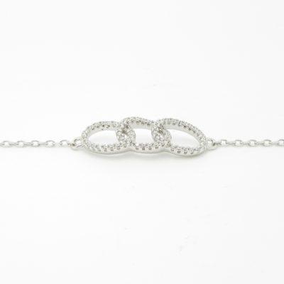 Bracelet argent trinity